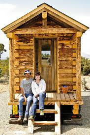 wolf brooks and lyle congdon built this cabin on a trailer and
