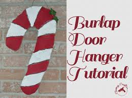 how to make a burlap door hanger clumsy crafter