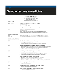 Physician Resume Examples by Example Of Resume 9 Samples In Word Pdf