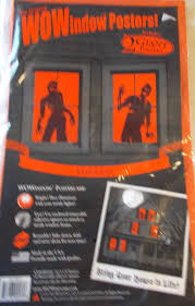 spooky mural decor halloween scene setter window cover 30 034 x48