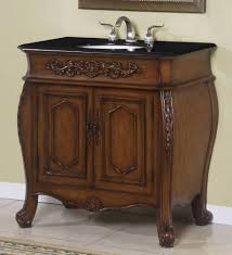 36 Inch Vanity Cabinet Maria 36 Inch Single Bathroom Vanity Cabinet With Black Granite Top
