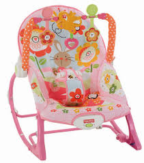Baby Rocking Chair Fisher Price Infant To Toddler Rocker Sleeper Pink Bunny Pattern