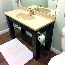 ada bathroom vanity build complete compliant public remodel