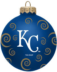 kansas city royals 3 swirl ornaments sports