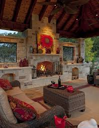 Outdoor Fireplace Patio Freestanding Outdoor Fireplace Patio Traditional With Raised