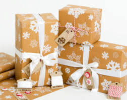 brown gift wrapping paper christmas wrapping etsy