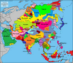 map of asai language map of asia 720x622 mapporn