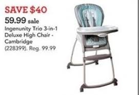 High Chairs At Babies R Us Ingenunity Trio 3 In 1 Deluxe High Chair 59 99 At Toys R Us On