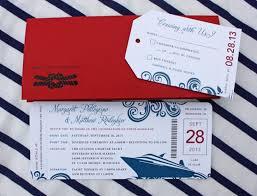 cruise wedding invitations blue swirl yacht cruise boarding pass wedding invitations