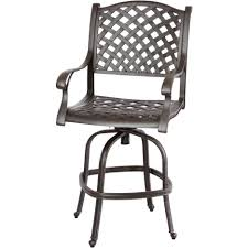 dark gray polished wrought iron bar stool aith arms and webbing