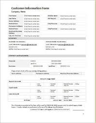 client information form template client info sheet template