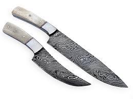 damascus steel chef knife set custom handmade kitchen kit ck 10