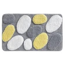 Gray And Yellow Bathroom Rugs Yellow U0026 Gold Bath Rugs U0026 Mats You U0027ll Love Wayfair