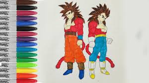 goku and vegeta super saiyan 4 coloring book pages dragon ball z