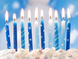 birthday candle blue birthday candles and balloons stock photo picture and