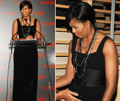 fashion black pearl necklace images Michelle obama rocks black spinel and pearls our style jpg