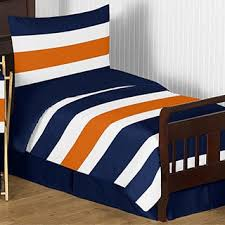 Blue Striped Comforter Set Sweet Jojo Designs Navy Blue And Orange Stripe 3 Piece Comforter