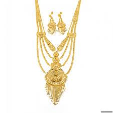 gold rani haar sets 22ct indian gold rani haar necklace set 3777 35 necklace sets