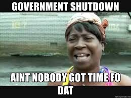 Meme Generator Sweet Brown - government shutdown aint nobody got time fo dat sweet brown meme