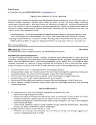 Best Program Manager Resume by Construction Project Manager Resume Jvwithmenow Com