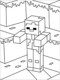 running minecraft character with cape coloring page minecraft