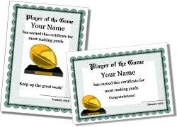 free printable football certificate templates