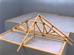 prefabricated roof trusses hip erection video youtube
