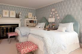 Light Blue Coverlet Splashy Coral Bedding Twin Vogue Boston Traditional Bedroom Image