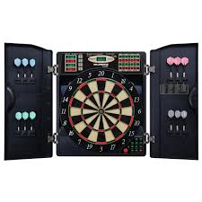 black dart board cabinet amazon com escalade sports e bristle 3 piece 1000 led electronic