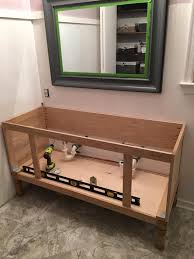 build a 60 inch diy bathroom vanity part 2 attaching the sides