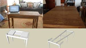 10 Seat Dining Table Dimensions Build An Expandable Dining Table That Can Seat Ten And Fit In A