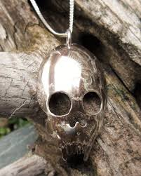 halloween jewelry crafts skull pendant fashioned from a