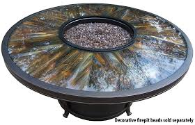 Fire Pit Amazon Com Oakland Living Moonlight Round Gas Firepit Table With