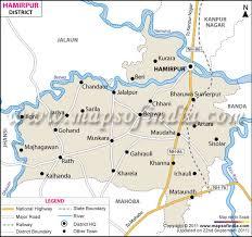 road map up hamirpur district map uttar pradesh