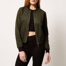 river island khaki er jacket in natural lyst
