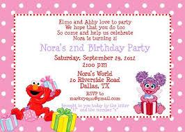 elmo template invitation