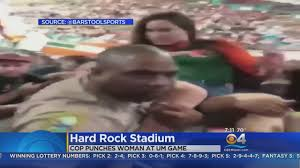 miami fan slaps officer video shows police officer punch miami fan after being slapped youtube