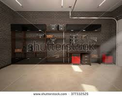 Garage Interior Design 3d Illustration Garage Interior Stock Illustration 377332465
