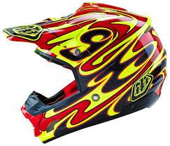 troy lee designs motocross helmets troy lee designs d2 troy lee designs se3 reflection mx helm gelb