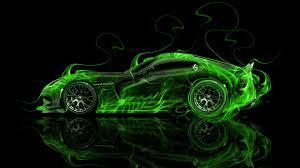 Dodge Viper Green - dodge viper srt side super fire abstract car 2014 el tony