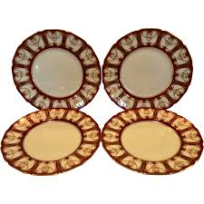 elegant dinner plates deep red with gold ra6768l h3362