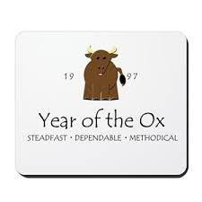 year of the ox 1997 symbol ox mouse pads cafepress