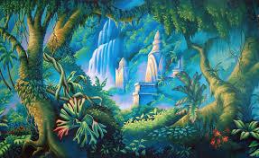 jungle backdrop jungle backdrop stock illustration illustration of scenic 33739874
