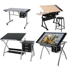 Artist Drafting Tables Drafting Table Craft Station Wooden Glass Drawing Desk Work