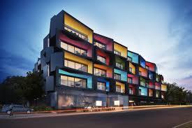 Wonderful Apartment Building Facade Modern Block Stockarch R - Apartment facade design