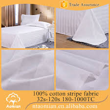 hotel bed linen sheets material 100 cotton white fabric roll