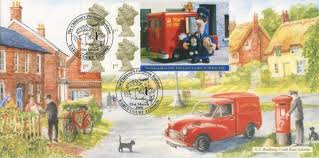 stamp book postman pat cover bfdc