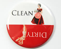 Dirty Clean Dishwasher Magnet Dishwasher Magnet Clean Dishes Dirty Dishes Pinup