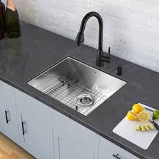 Matte Black Kitchen Faucet by Vigo Edison Matte Black Pull Down Spray Kitchen Faucet Free