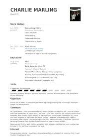 accounting intern resume the best resume